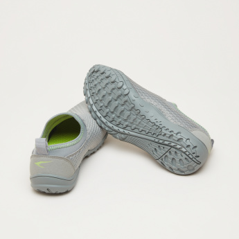 Textured Slip-On Shoes with Stich Detail and Elasticised Collar
