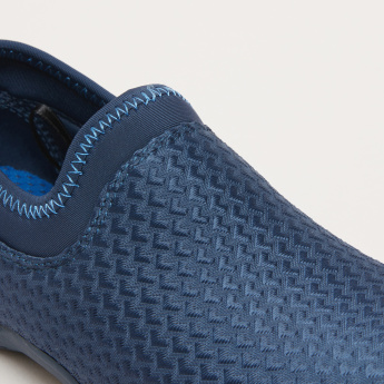 Boys' Textured Slip On Shoes with Stich Detail and Elasticised Collar