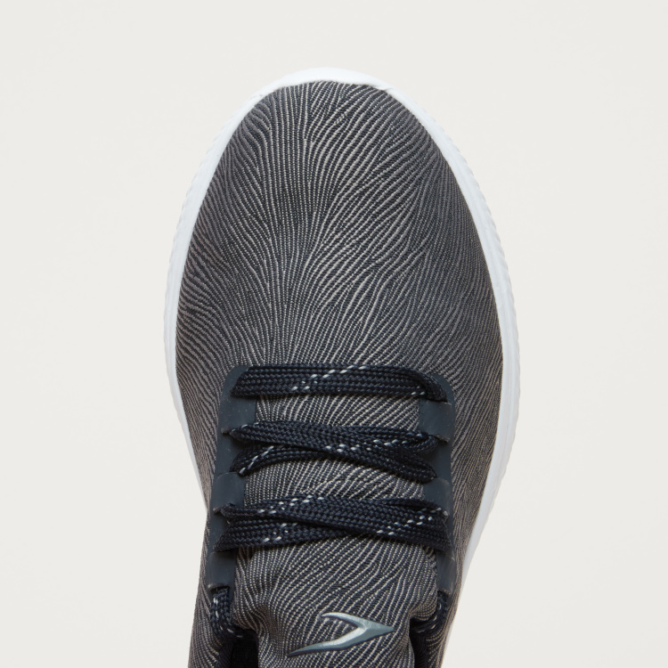 Striped Lace-Up Walking Shoes