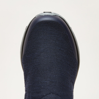 Men's Textured Walking Shoes with Elasticised Gussets
