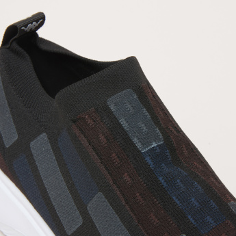 Kappa Men's Walking Shoes with Geometric Pattern