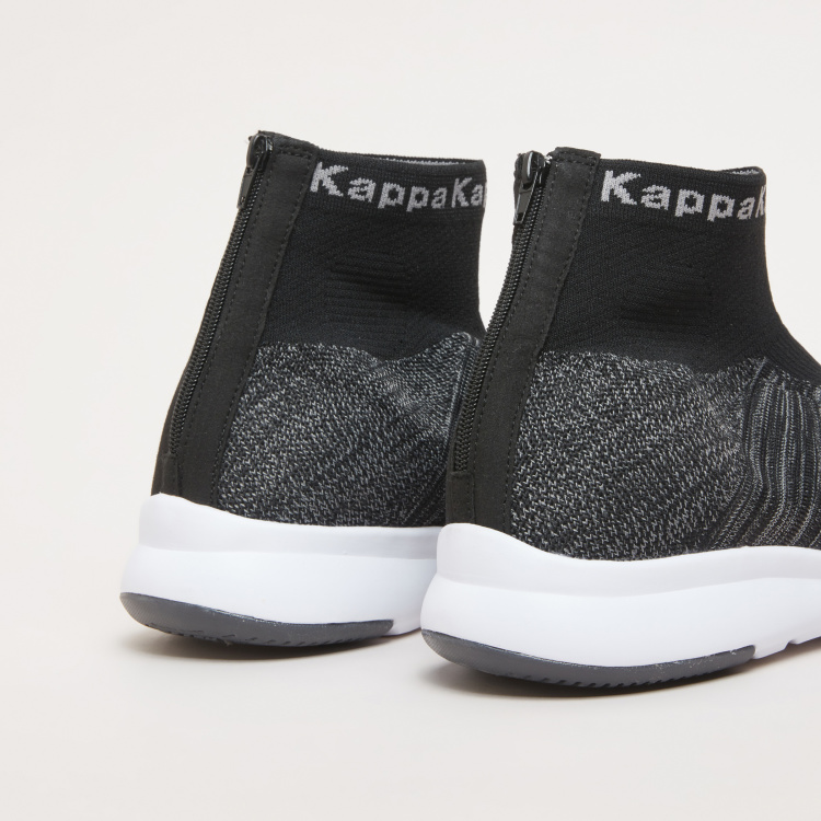 Kappa Textured High Top Shoes with Zip Closure