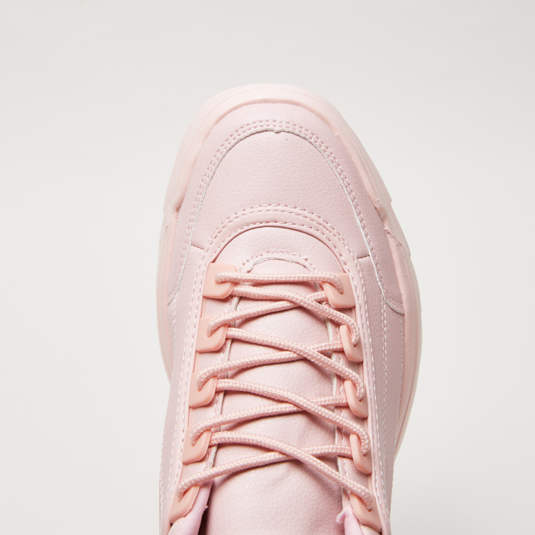 Lace-Up Walking Shoes with Pull Tab