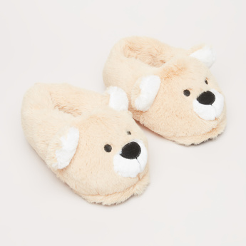 Plush Bear Bedroom Slip-On Shoes