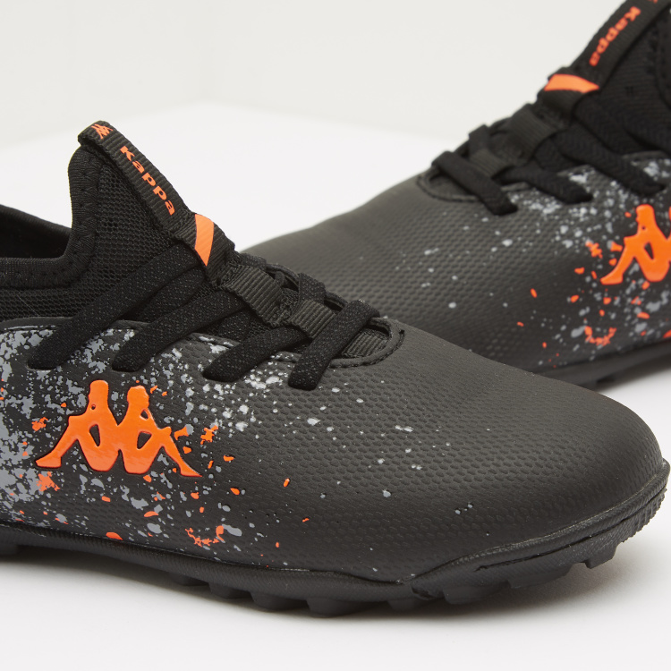 Kappa Boys' Printed Turf Football Shoes with Lace Up Closure