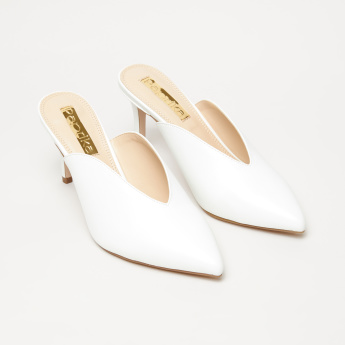 Paprika Slip-On Mules with Stiletto Heels