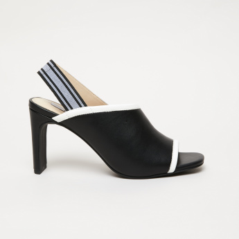 Elle High Heel Peep Toe Sandals with Elasticised Backstrap