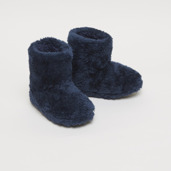 Plush High Top Bedroom Boots