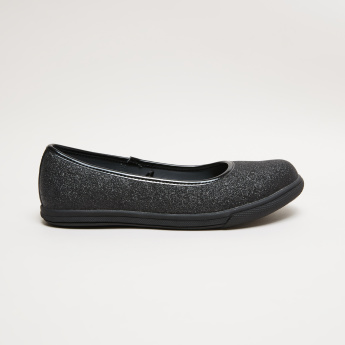 Glitter Slip-On Ballerina Shoes