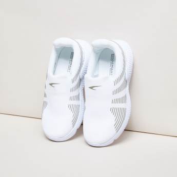 Textured Slip-On Sneakers with Stripes