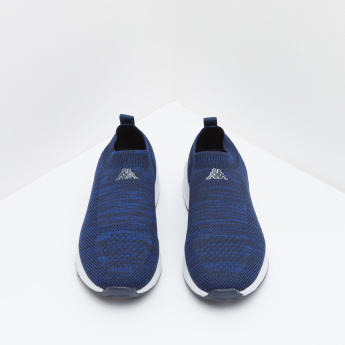 Kappa Boys' Slip On Walking Shoes with Ribbed Collar