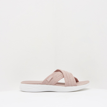 Kappa Cross Strap Sandals with Slip-On Closure
