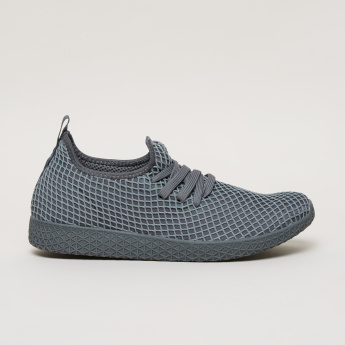 Kappa Men's Textured Walking Shoes with Lace Closure