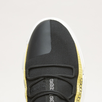 Kappa Tape Detail Lace-Up Walking Shoes with Lace Keeper