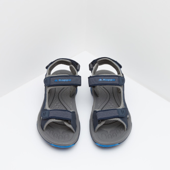 Kappa Textured Floater Sandals with Hook and Loop Fastening