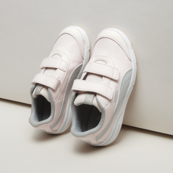 PUMA Stitch Detail Sneakers with Hook and Loop Closure