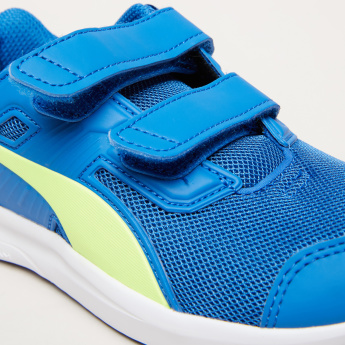 PUMA Textured Sneakers with Hook and Loop Closure