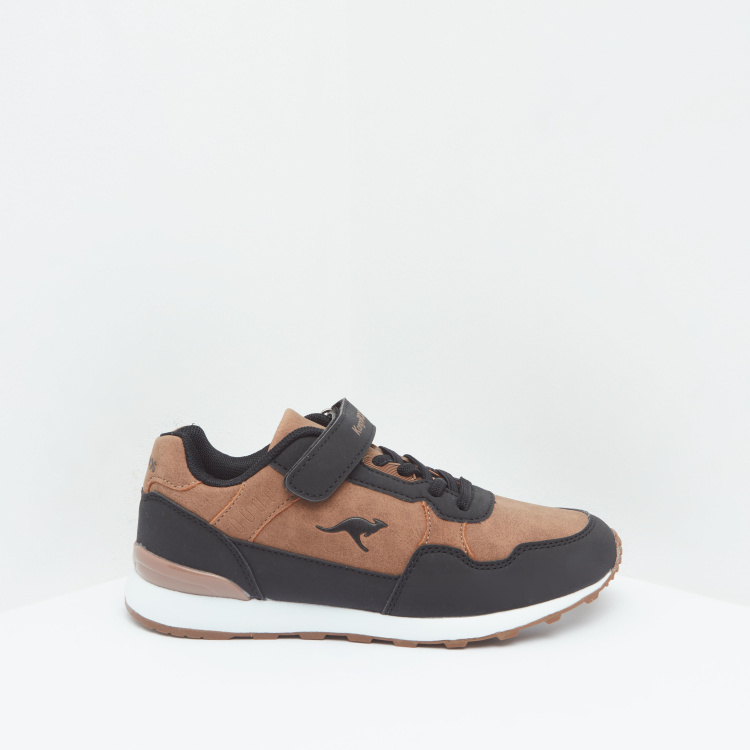 KangaROOS Panelled Sneakers with Hook and Loop Closure