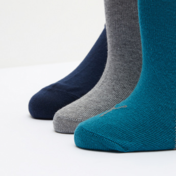 PUMA Textured Quarter Length Socks - Set of 3
