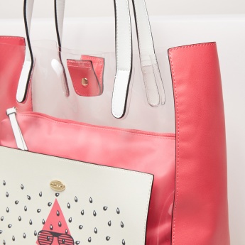 Missy Printed Tote Bag with Pouch