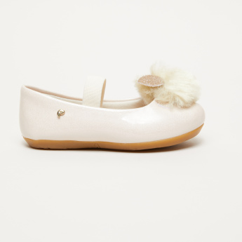 Pampili Mary Jane Slip-On Shoes with Pom Pom Applique
