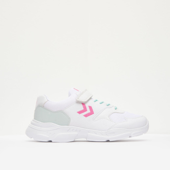 Hummel Girls' Sneakers with Hook and Loop Closure
