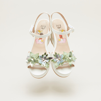 Elle Applique Detail Sandals with Hook and Loop Closure