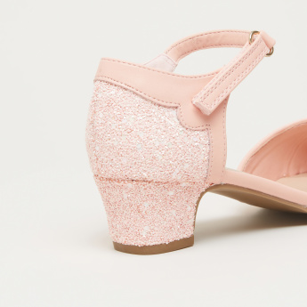 Glitter Shoes with Ankle Strap