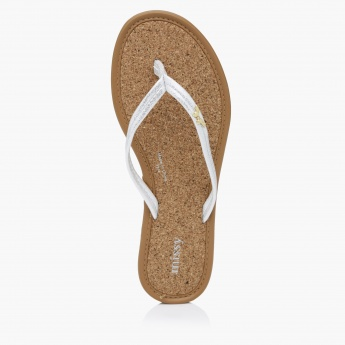 Missy Textured Thong Slides