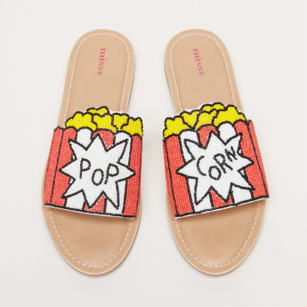 Missy Beaded Slides