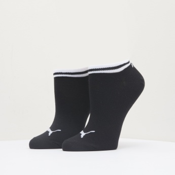 PUMA Printed Ankle Length Socks with Striped Cuffs