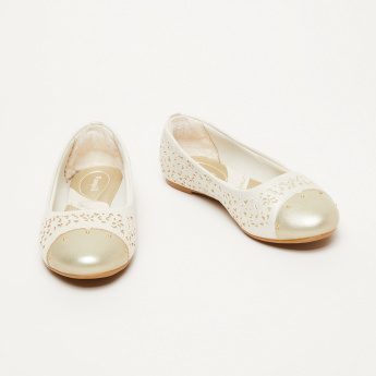 Pampili Laser Cut Detail Slip-On Ballerina Shoes