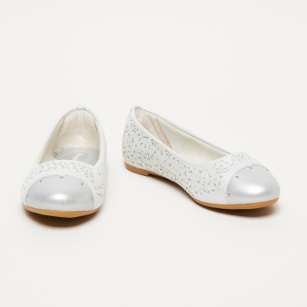 Pampili Embellished Slip-On Shoes with Laser Cut Detail