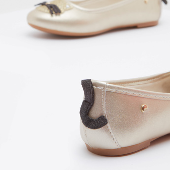 Pampili Embellished Ballerina with Applique Detail