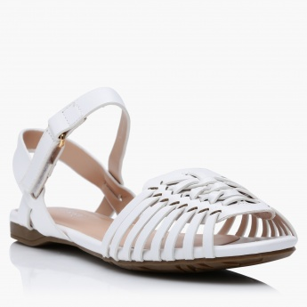 Little Missy Cut-Out Sandals with Hook and Loop