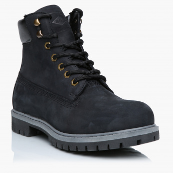 Lee Cooper Lace-Up High Top Boots