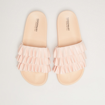 Ruffle Detail Slides