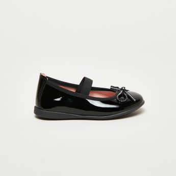 Pablosky Bow Detail Mary Jane Shoes with Elasticised Strap