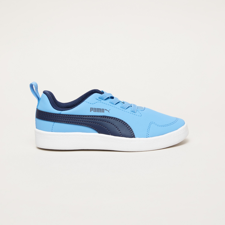 PUMA Stitch Detail Lace-Up Sneakers