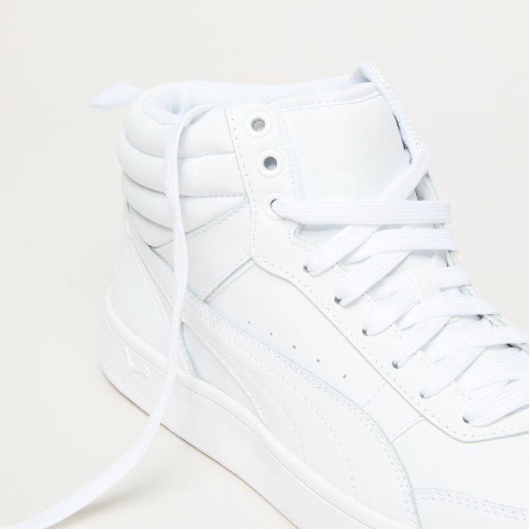 PUMA Perforated Lace-Up High Top Shoes with Pull Tab