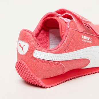 PUMA Glitter Sneakers with Hook and Loop Closure