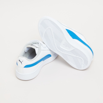 PUMA Applique Detail Sneakers with Hook and Loop Closure