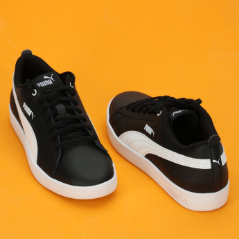 PUMA Applique Detail Lace-Up Sneakers
