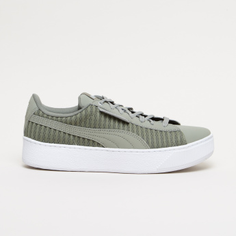 PUMA Textured Lace-Up Walking Shoes
