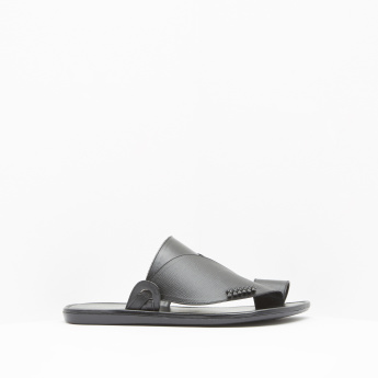 Textured Leather Arabic Sandals