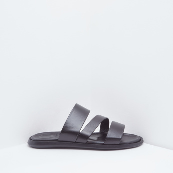 Strappy Detail Sandals with Slip-On Closure
