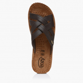 Cozy Cross Strap Sandals