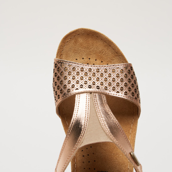 Stitch Detail Sandals with Elasticised Gussets