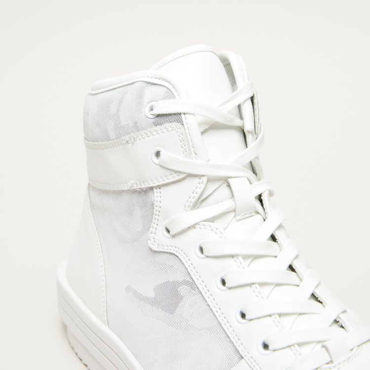 Lee Cooper Camouflage High Top Lace-Up Shoes