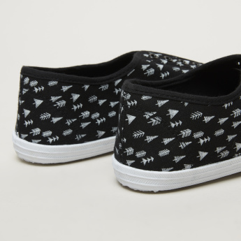 Little Missy Printed Slip-On Sneakers